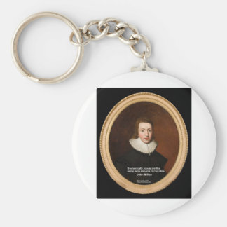John Milton Love & Chocolate Quote Gifts & Cards Keychain