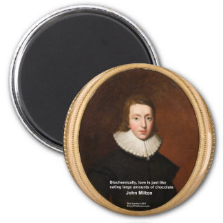 John Milton Love & Chocolate Quote Gifts & Cards Magnet