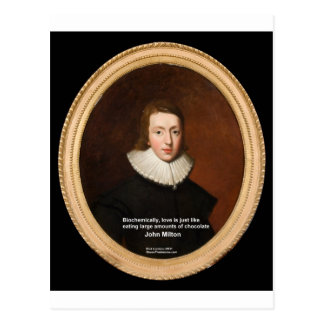 John Milton Love Chocolate Quote Gifts Cards Postcard