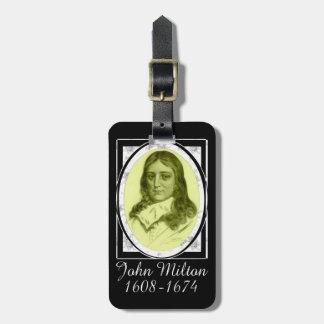 John Milton Luggage Tags
