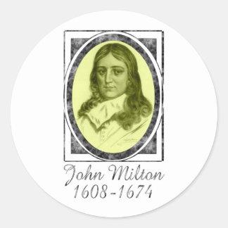 John Milton Pegatina Redonda