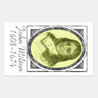 John Milton Pegatina Rectangular