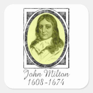 John Milton Square Sticker