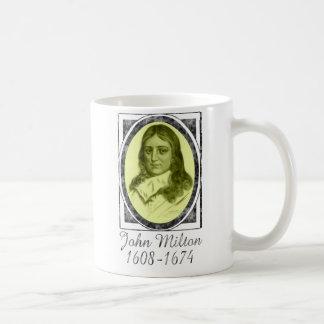 John Milton Taza Básica Blanca
