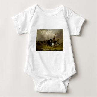 John Mix Stanley - Buffalo Hunt on the Southwester Baby Bodysuit