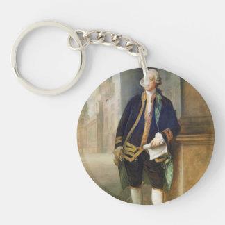 John Montagu by Thomas Gainsborough Acrylic Key Chain