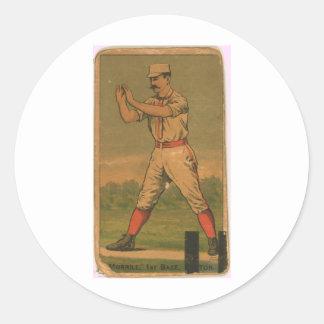 John Morrill, Boston Beaneaters Classic Round Sticker