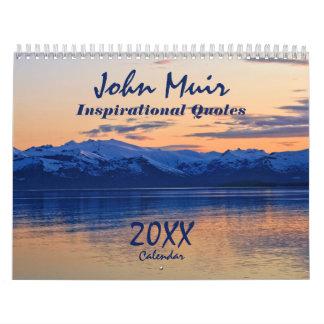 John Muir Naturalist Quotes 12 Month Calendar