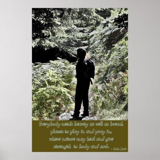 John Muir Nature Quote Poster Print