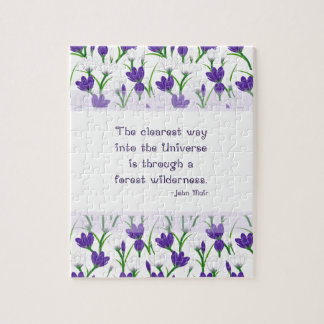 John Muir Nature Quote with Spring Crocus Flowers Puzzles