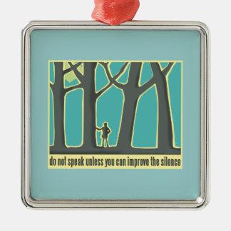 John Muir Quote Square Metal Christmas Ornament