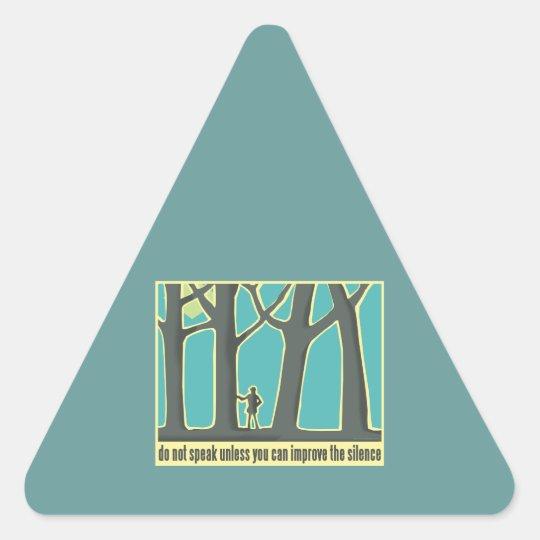 John Muir Quote Triangle Sticker