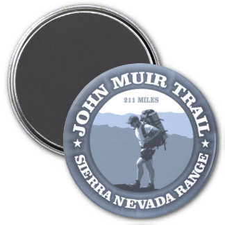 John Muir Trail 3 Inch Round Magnet