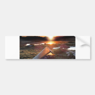 John Muir Trail Camp Sunrise - Sierra Nevada Mount Bumper Sticker