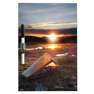 John Muir Trail Camp Sunrise - Sierra Nevada Mount Dry-Erase Board