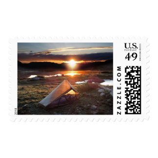 John Muir Trail Camp Sunrise - Sierra Nevada Postage