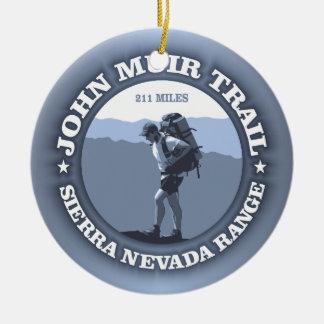 John Muir Trail Ceramic Ornament