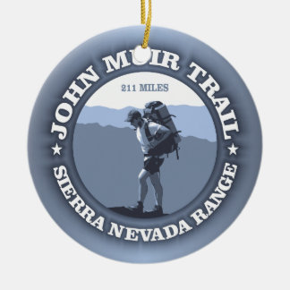 John Muir Trail Double-Sided Ceramic Round Christmas Ornament