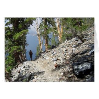 John Muir Trail Hiker - Sierra Nevada Mountains Card