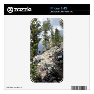John Muir Trail Hiker - Sierra Nevada Mountains Decals For iPhone 4