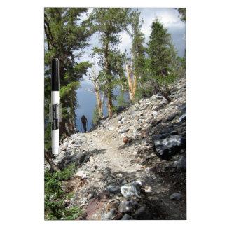 John Muir Trail Hiker - Sierra Nevada Mountains Dry-Erase Board