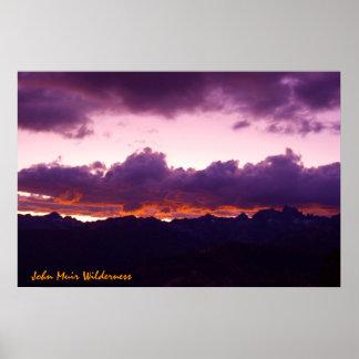 John Muir Wilderness Sunset Poster