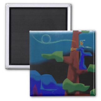 john muir's aeolian music 2 inch square magnet