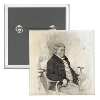 John Nichols, engraved by H. Meyer, 1825 Pinback Button