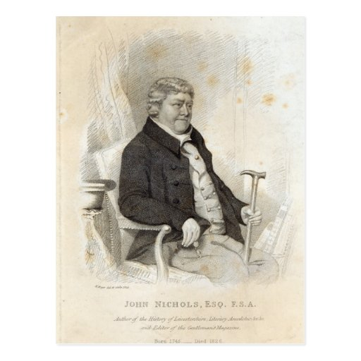 John Nichols, engraved by H. Meyer, 1825 Postcard