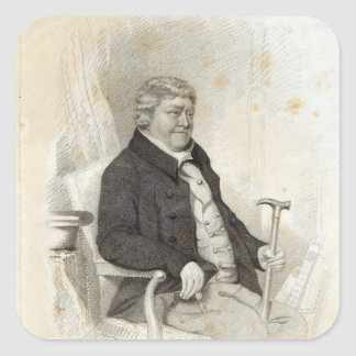 John Nichols, engraved by H. Meyer, 1825 Square Sticker