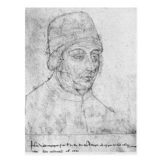 John of Burgundy, bishop of Cambrai Postcard