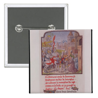 John of Gaunt being received by the citizens 2 Inch Square Button