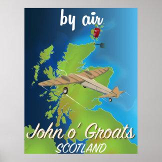 john o'groats Scotland vintage style poster