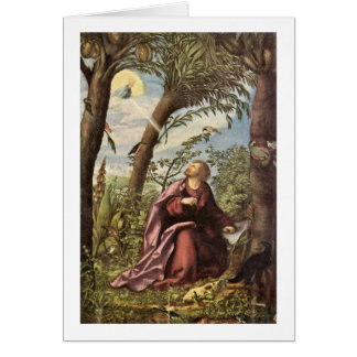 John On Patmos By Hans Burgkmair The Elder Greeting Card