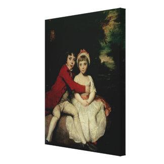 John Parker and his sister Theresa, 1779 Canvas Print