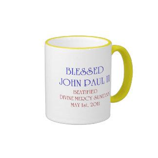 John Paul bendecido 2 Taza De Dos Colores