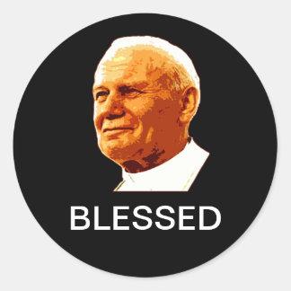 John Paul II BLESSED Classic Round Sticker