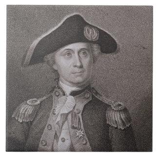 John Paul Jones (1747-92), grabado por James Barto Azulejo Cuadrado Grande