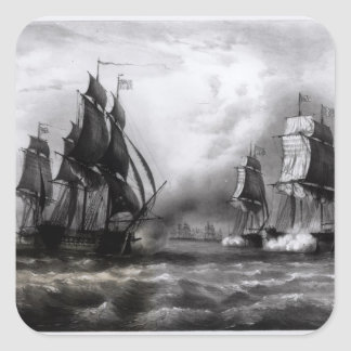 John Paul Jones's 'Ranger' Ship, 1793 Square Sticker
