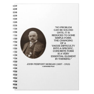 John Pierpont Morgan No Problem Can Be Solved Notebook