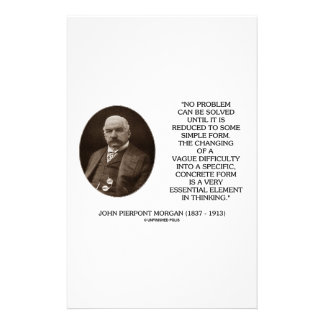 John Pierpont Morgan No Problem Can Be Solved Stationery