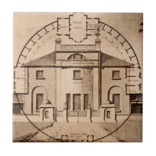 John Plaw Antique Architecture Floor Plan Tile