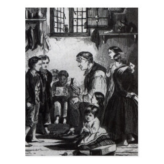 John Pounds teaching children in his home Postcard