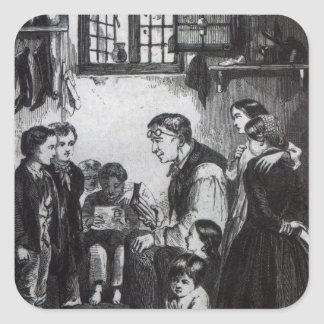 John Pounds teaching children in his home Square Sticker