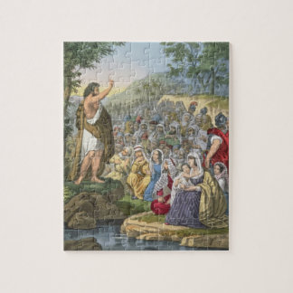 John Preaching in the Wilderness, from a bible pri Jigsaw Puzzle