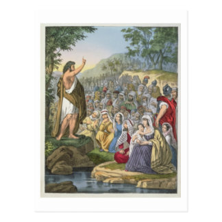 John Preaching in the Wilderness, from a bible pri Post Cards