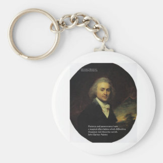 "John Q Adams ""Patience"" Wisdom Quote Gifts & Mugs Key Chain"
