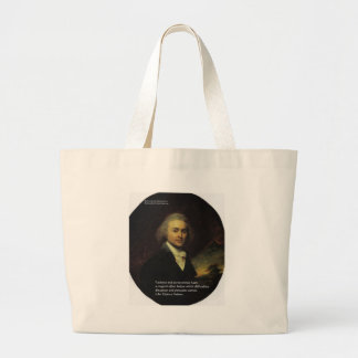 "John Q Adams ""Patience"" Wisdom Quote Gifts & Mugs Large Tote Bag"