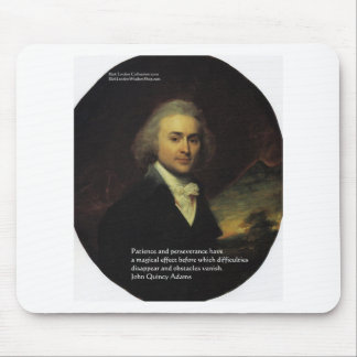 """John Q Adams """"Patience"""" Wisdom Quote Gifts & Mugs Mouse Pad"""