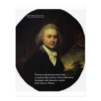 "John Q Adams ""Patience"" Wisdom Quote Gifts & Mugs Postcards"